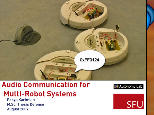 [Audio Communication for Multi-Robot Systems]